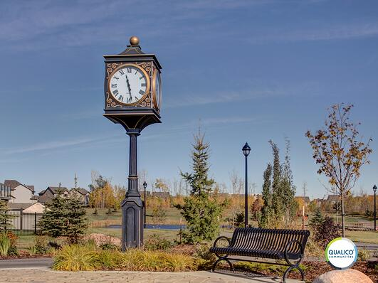 Langdale_Clock_Tower_with_bench_Watermark_Logo