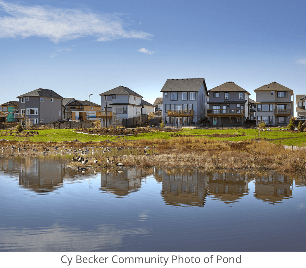 Decide Whether to Buy a New or Resale Home Pond Image