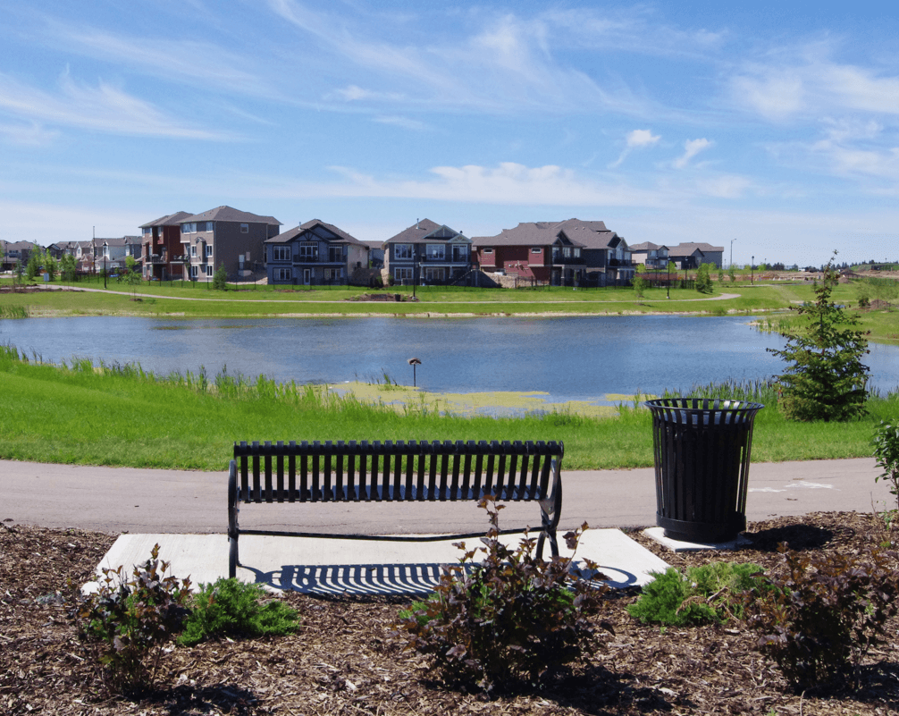 Build Your Home in a New Community or an Established One Pond Image