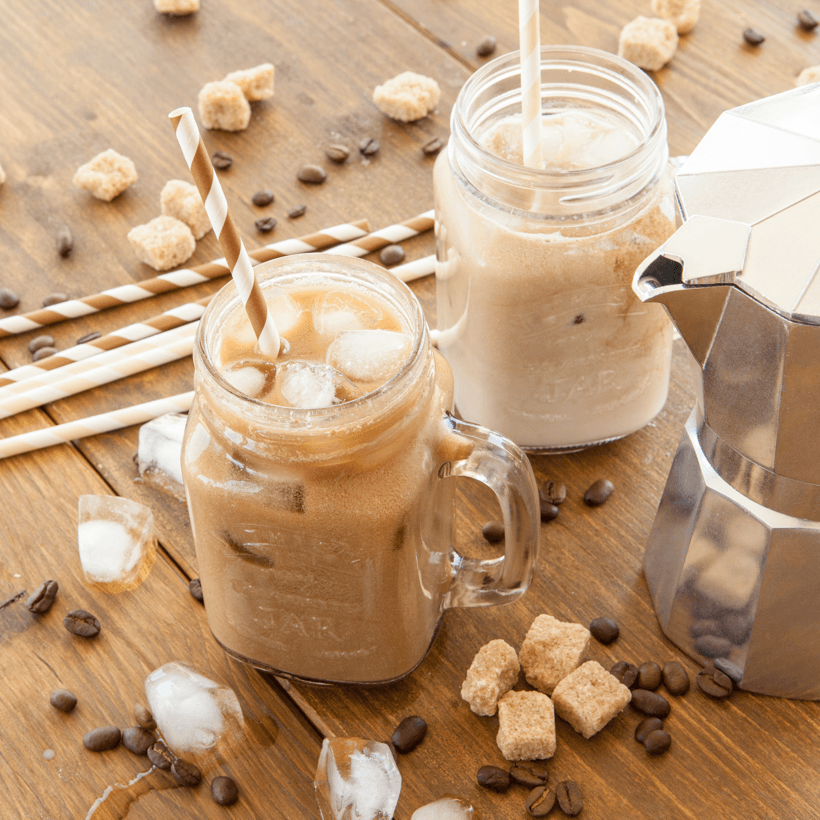 DIY Popsicles Cool Treats Iced Coffee Vintage Jar Image