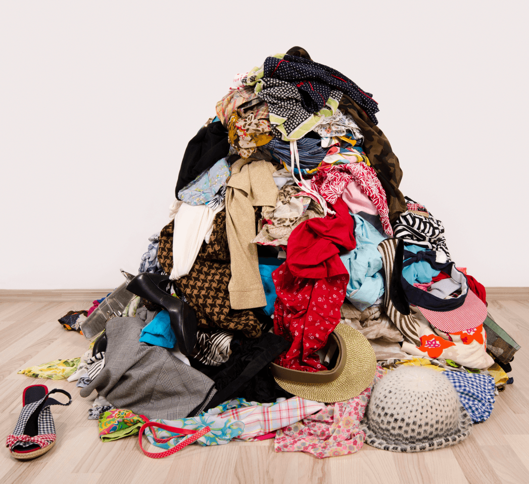 Make Your Home a More Relaxing Place Clothes Pile Image